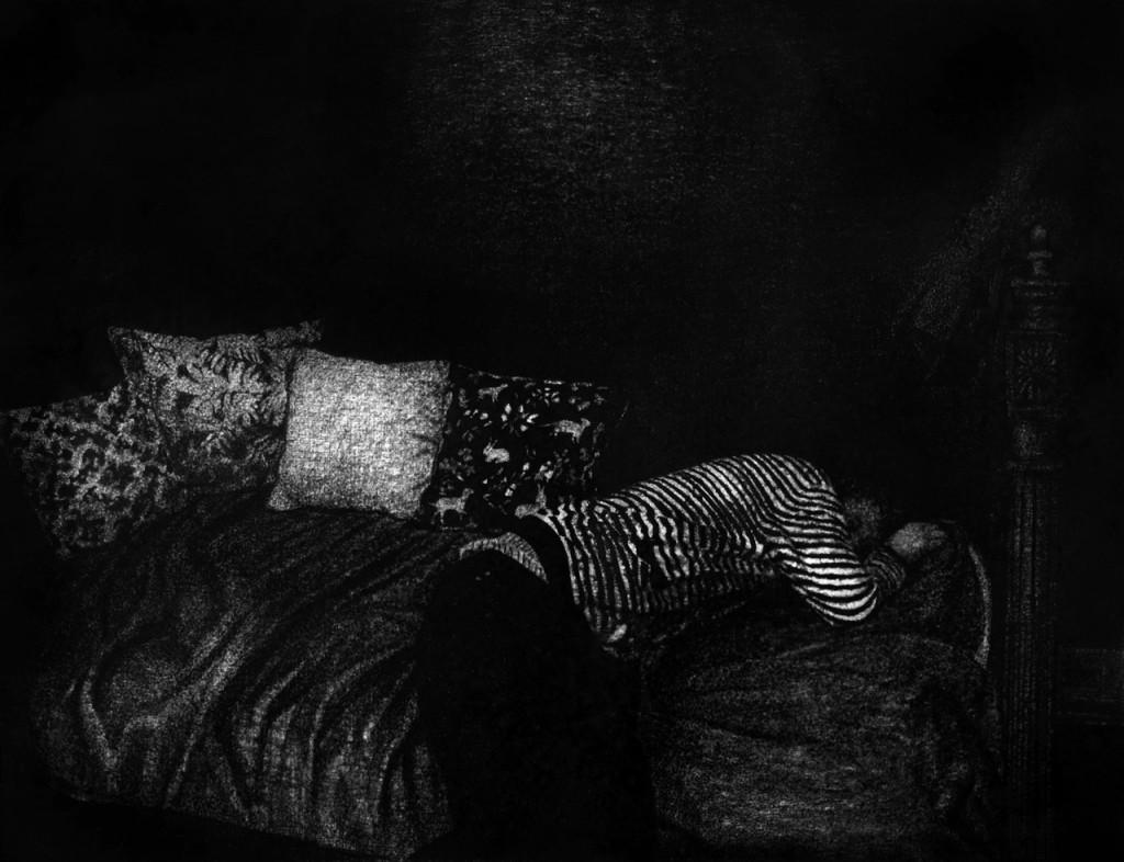 Thomas Lévy Lasne - 2015-Fatigue-(89x116cm-fusain-sur-papier).