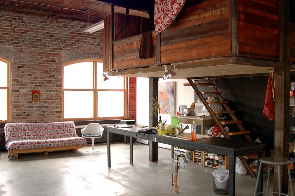 Atelier d'artiste à la Fondation Darling.