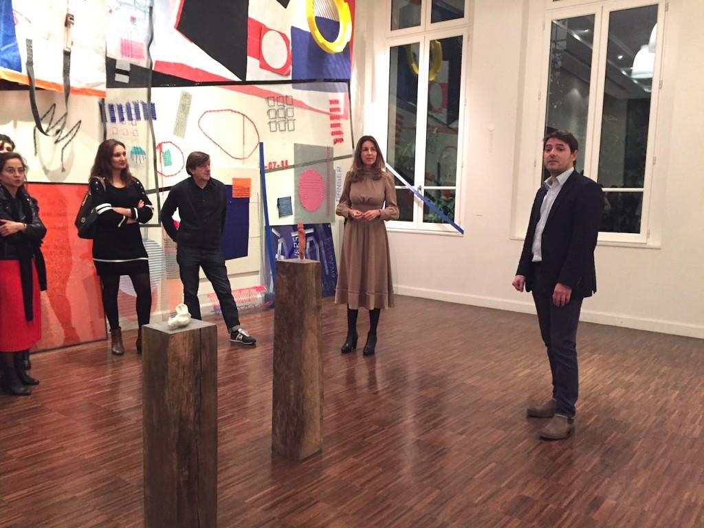 Gaël Charbau, commissaire de l'exposition et Angélique Aubert directrice  des projets artistiques du groupe Emerige.