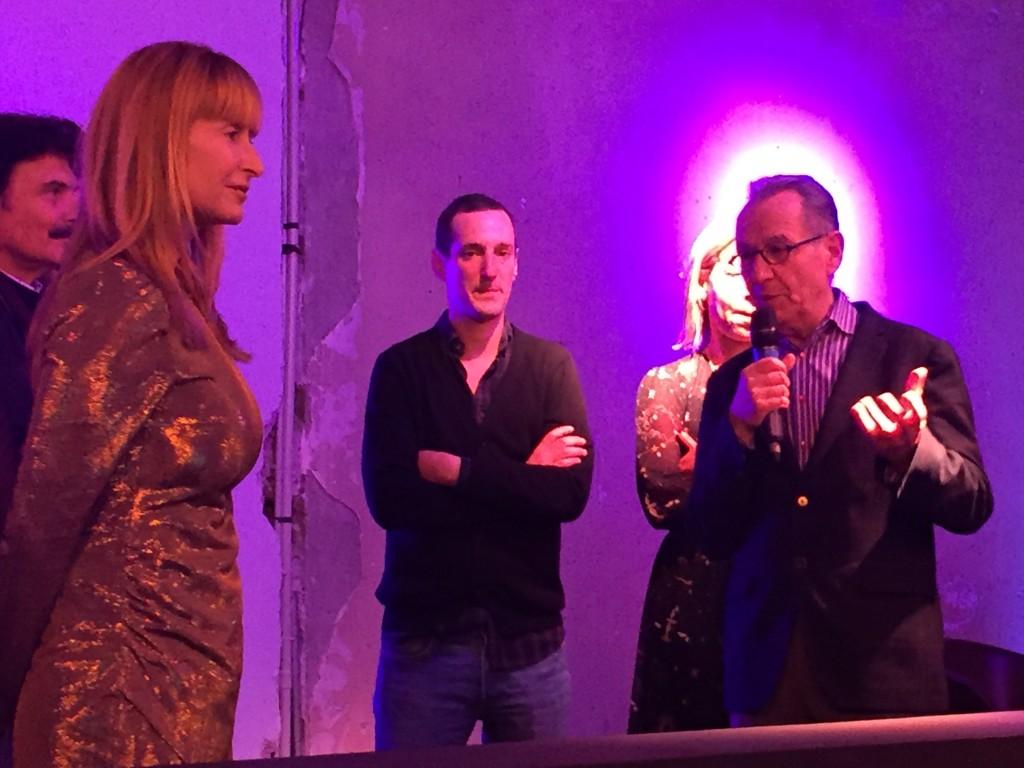 Remise du Prix Sam pour l'art contemporain à Louis-Cyprien Rials par Sandra Hegedus et Laurent le Bon au Palais de Tokyo .