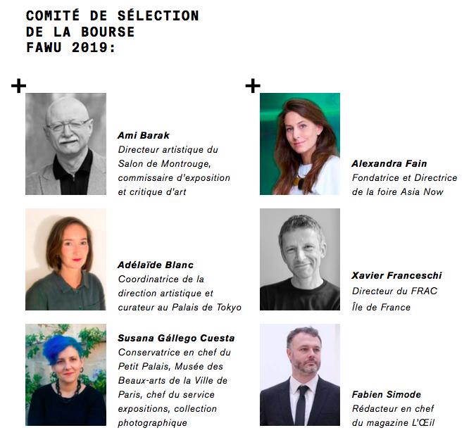 portraits des membres du comité de sélection de la Bourse FAWU ABROAD  2019